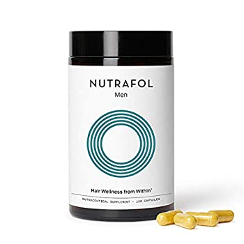 Nutrafol Mens Hair Growth Supplement for Thicker Stronger Hair  4 Capsules Per Day - 1 Bottle - 1 Month Supply