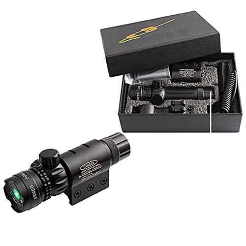 HAOXUAN Grünes Punktvisier, Punktzeiger Schwarz Kompakt Verstellbar, Doppelvisier 532 Nano Taktisches Zielfernrohr Mit 20 Mm Picatinny-Halterung Und 1 Zoll Ringhalterungsadapter Ferndruckschalter