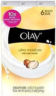 Olay Bar Soap Ultra Moisture with Shea Butter - 6 CT, 4 oz each