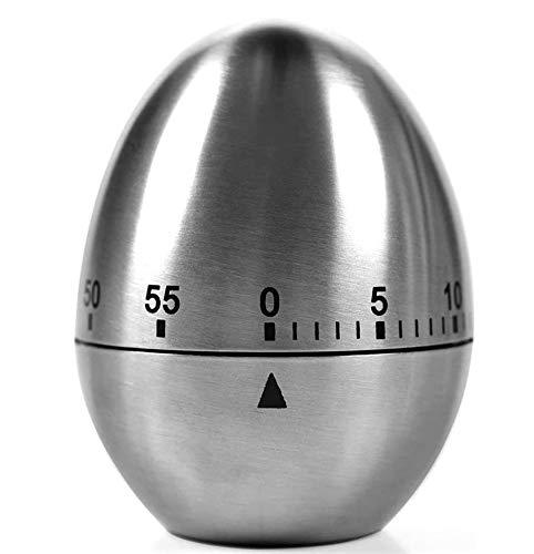 YFSEOS Temporizador Cocina Mecanico Cronometro Cocina 60 Minutos Temporizador Timer Cocina Acero Inoxidable Reloj Temporizador Alarma Forma de para Estudio Oficina Dormitorio Sala Cocina (Huevo)
