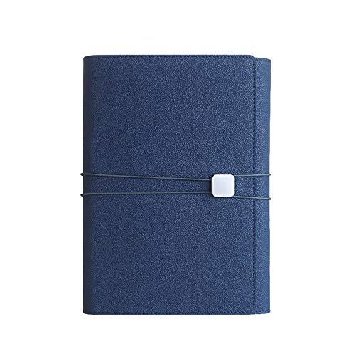 ThreeH in pelle PU Notebook A5 Blocco note multicolore Diario multifunzione Articoli di cancelleria per ufficio Navy