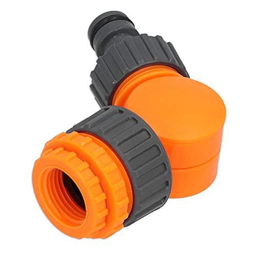 fuluai Kit de Adaptador de Grifo de plástico, Conector rápido de Manguera de Grifo, acoplador de Adaptador Giratorio de 180 Grados para riego de jardín
