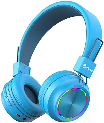iClever Kids Bluetooth Headphones, Colorful Lights Headphones for Kids with...