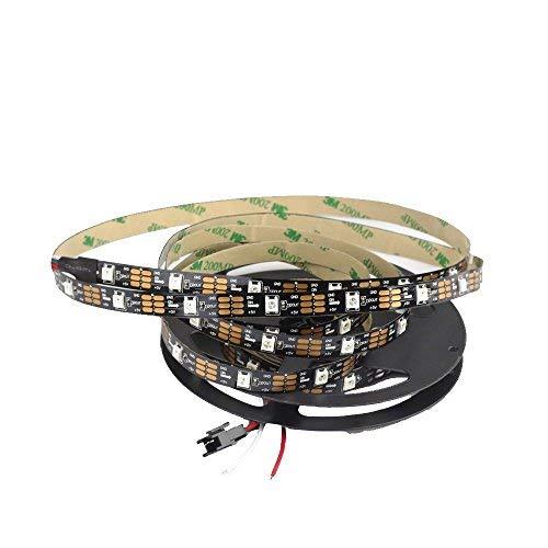 WS2812B CHINLY 5m 150leds DC5V Tira de LED direccionable individualmente 5050 RGB SMD 150 píxeles color de sueño no impermeable IP30 PCB negro
