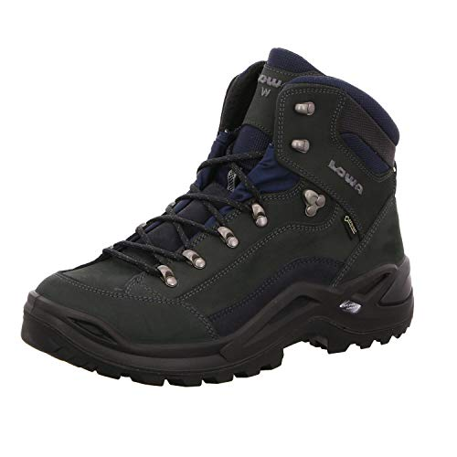 Lowa Renegade GTX Mid Wide Men Größe UK 11 dunkelgrau/Navy