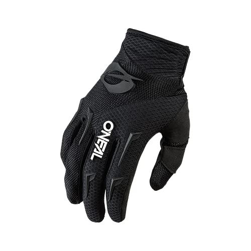 O'NEAL | Fahrrad- & Motocross-Handschuhe | MX MTB DH FR Downhill Freeride | Langlebige, Flexible Materialien, belüftete Handinnenfäche | Element Glove | Herren | Schwarz Weiß | Größe L