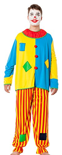 r-dessous Clown Kostüm Herren Harlekin Narr Zirkus Narren Verkleidung Motto Party Karneval Fasching Halloween Groesse: XXL/XXXL