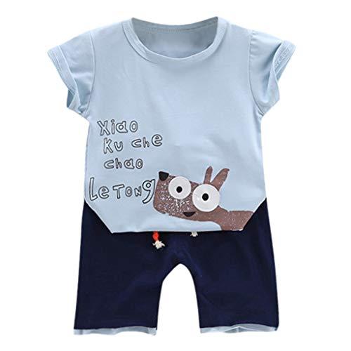 Julhold Kleinkind Kinder Jungen Süß Cartoon Baumwolle T-Shirt Oberteile Shorts Hosen 2er Kleidung Outfits Set 0-5 Jahre