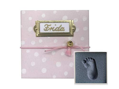 My Magic Footprint Personalisiertes 3d Baby Abdruckset, völlig ungefährlich ohne Gips und Farbe, Baby Fußabdruck und Handabdruck, Süßes Geschenk zur Erinnerung für Taufe und Geburt