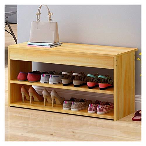 HHOSBFSS Scandinavian Creative Entryway Cambio de Zapatos Taburete, Taburete de Almacenamiento Multifuncional Multifuncional Zapato de Doble Capa Sala de Estar Sofá Taburete (Color : D)