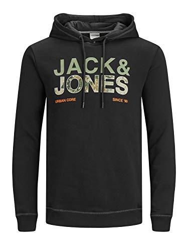 Jack & Jones JCOART Sweat Hood Sudadera con Capucha, Negro, L para Hombre