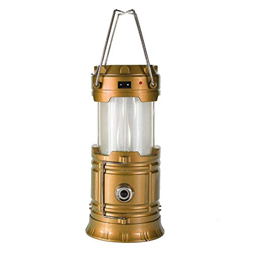 ZFY Solar Powered Portable Retractable Camping Tent Light Flame Effect Lamp Lantern Flashlight,C-12.5 * 9.3 * 9.3cm