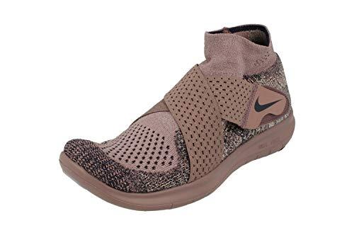 NikeLab Damen Free RN Motion Flyknit 2017 Running Trainers 883292 Sneakers Schuhe (UK 5 US 7.5 EU 38.5, Taupe Grey College Navy 201)