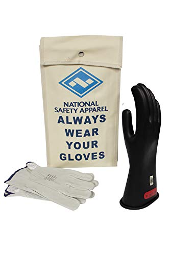 National Safety Apparel Class 0 Black Rubber Voltage Insulating...