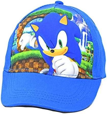 Sonic The Hedgehog Kids Baseball Cap Hat One Size Blue