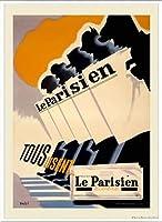 ポスター アーティスト不明 Le Parisien 額装品 アルミ製ベーシックフレーム(ホワイト)