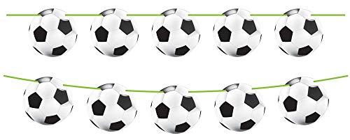 12m Wimpelkette * FUSSBALL-STADION * aus 15 Papp-Wimpel für Party und Geburtstag // Kinder Geburtstag Party Fete Set Girlande Banner Partykette Fussball Soccer