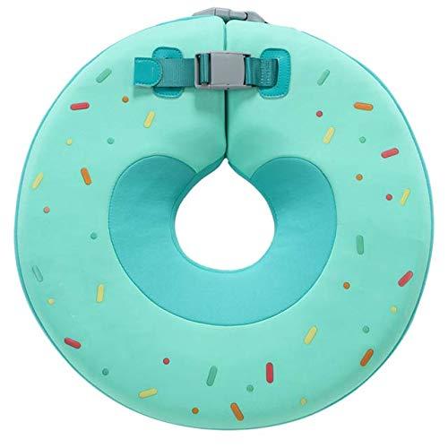 Más seguro bebé natación anillo no inflable recién nacido Natación entrenador con doble hebilla de seguridad accesorios de natación para bebé 0-6 meses verde M