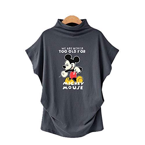 DREAMING-Camiseta De Manga Corta De Murciélago con Cuello En V para Mujer, Talla Grande, Primavera Y Verano, Manga Corta + Estampado 5XL