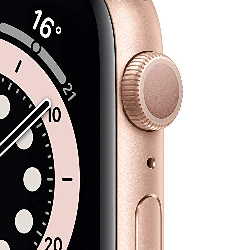 AppleWatch Series6 (GPS, 44mm) Aluminiumgehäuse Gold, Sportarmband Sandrosa