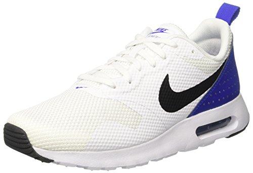 Nike Air Max Tavas - Zapatillas de Entrenamiento Hombre, Blanco (White / Black / Paramount Blue), 40 EU