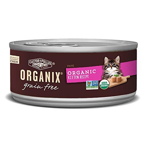 Castor & Pollux Organix Grain Free Organic Kitten Recipe Canned Cat Food, (24) 5.5 oz Cans