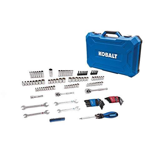 Kobalt 129-Piece Standard (SAE) and Metric Polished Chrome Mechanic's Tool Set