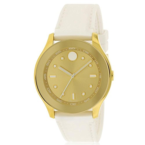 Movado Women's Swiss-Quartz Watch with Rubber Strap, White, 19 (Model: 3600410)