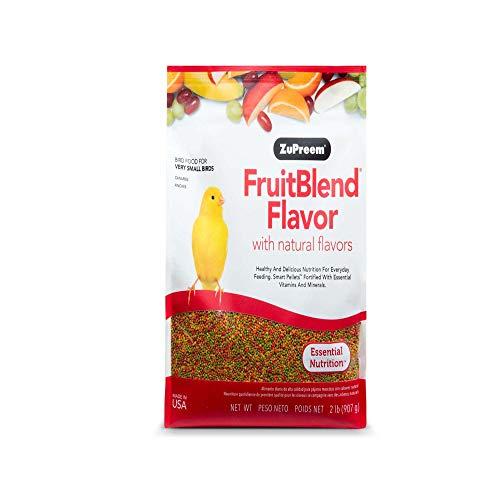 ZuPreem Alimento para Aves Multifrutas Natural (900 g). Pienso para Pájaros Canarios, Pinzones, Cotorras con Vitaminas y Minerales. Comida Balanceada para Aves Pequeñas de Fácil Digestión