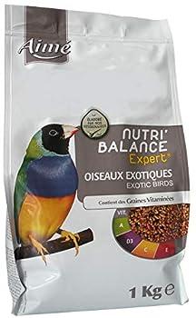 AIME Nourriture pour Oiseaux Exotiques, Nutri'Balance Expert, Menu Expert pour Oiseaux Exotiques, Sac de 1 Kg