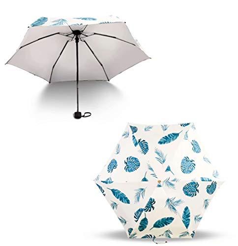Draagbare en compacte opvouwbare paraplu, plat en ultralicht Zonnige en regenachtige paraplu voor tweeërlei gebruik, sterke windbestendigheid, geschikt voor buiten- en reisparaplu's
