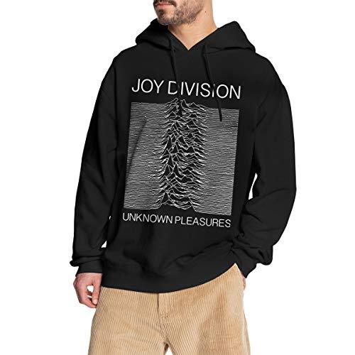 Zxcvbnm Joy Division-Unknown Pleasures Men's Hoodie Sweatshirt S Black