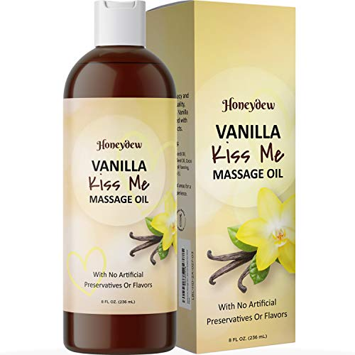 Enticing Vanilla Massage Oil for Couples - Sensual Massage Oil for Men and Women with Sweet Almond Oil for Skin Care and Vanilla Scented Oil for Tempting Couples Massage Oil for Massage Therapy