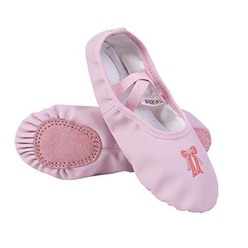 CHICTRY Zapatillas de Ballet Danza para Niña Transpirable Zapatos Clásico Zapatillas de Bailarina Gimnasia Niña Ligero Plegable Rosa 225