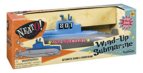 Toysmith NeatO! Classic Toys Wind Up Diving Submarine