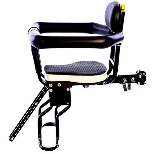 CLISPEED Fahrrad Kindersitz Vorne Abnehmbarer Kinder Vordersitz Kinderfahrradsitz Sicherheit Fahrradsitz Faltbarer Verstellbarer Mountainbike Babysitz für MTB BMX Rennrad