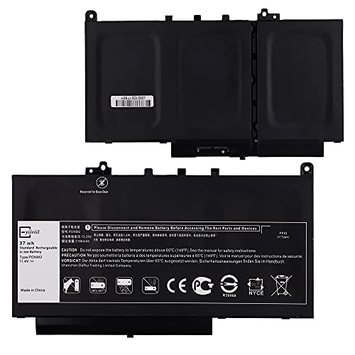 Replacement Battery PDNM2 0F1KTM Compatible with Dell Latitude E7470 E7270 579TY Series Notebook