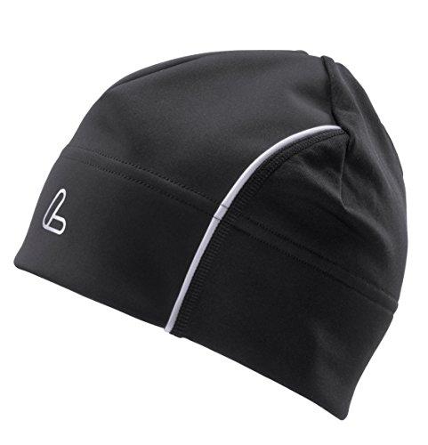 LÖFFLER Windstopper Bonnet Chaud de Bonnet M Noir