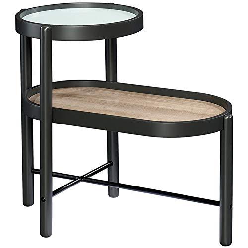 Sauder Anda Norr Metal End Table in Black