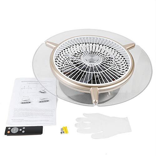 ROMYIX - Ventilador de techo con iluminación LED y mando a distancia, ventilador silencioso, ventiladores de techo invisibles creativos, iluminación para salón dormitorio