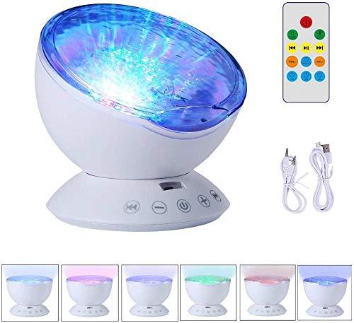 Projectoren Ocean Wave Nachtlampje Lamp met afstandsbediening Sleep Led Star Kleurrijke Usb Tf Lamp Wave Romantiek Slaapkamer