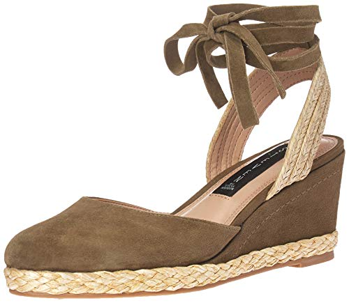Price comparison product image STEVEN by Steve Madden Women's Charly Sandal,  Olive Suede,  7.5 M US