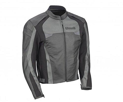 Kawasaki Lederjacke schwarz/grau Größe 3XL