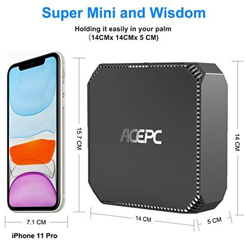 """Mini PC,ACEPC AK2 Windows 10 Pro 4GB RAM+64GB ROM Intel Celeron Apollo Lake J3455 (fino a 2,3GHz) Micro Desktop Computer, Supporto 2.5""""SSD/HDD, Dual Band WiFi, 1000Mbps LAN, Bluetooth 4.2, 4K"""