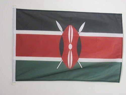 AZ FLAG Flagge Kenia 150x90cm - KENIANISCHE Fahne 90 x 150 cm Aussenverwendung - flaggen Top Qualität