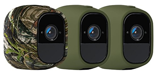 Arlo Accessory - Skins | Set of 3 – Green, Green, Camouflage |Compatible with Arlo Pro only| (VMA4200)