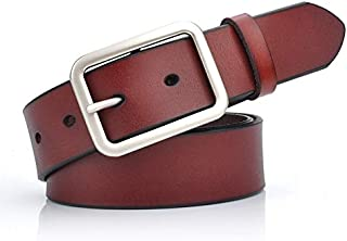 SGJFZD Women's Wide Belt Retro Wide Belt Female Leather Wild Simple Fashionable Belt (Color : Red Brown)