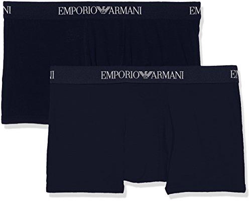 Emporio Armani 111613CC722 Boxer Uomo, Blu, Large (Pacco da 2)