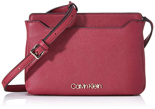 Calvin Klein Worked Ew Xbody - Borse a tracolla Donna, Rosso (Tibetan Red), 4x12x24 cm (W x H L)