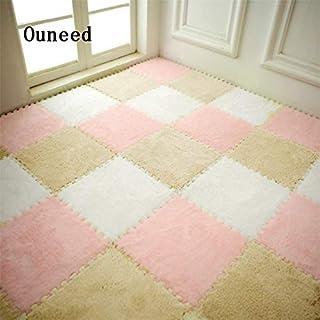 New Arrival! Quality 25 * 25CM Baby EVA Floor Mat Kids Carpet Foam Puzzle Mat Shaggy Velvet Baby Eco Floor 7 Colors #JYFW0